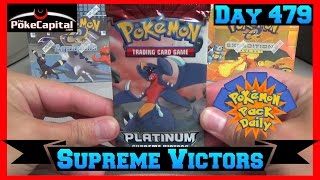 Pokemon Pack Daily Platinum Supreme Victors Booster Opening Day 479 - Featuring ThePokeCapital by ThePokeCapital