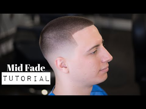 Mens hairstyles - THE MID FADE!! - Men's Haircut Tutorial