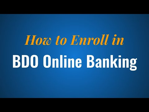 How to Enroll in BDO Online Banking