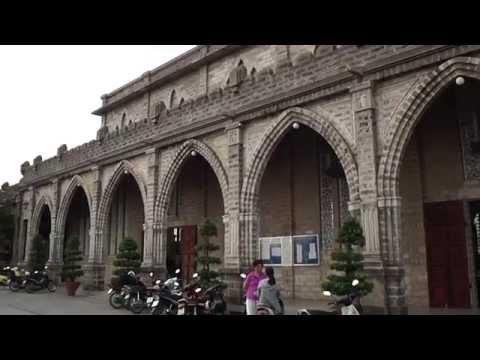 Вьетнам  Нячанг  Пагода Лонгсон и Кафедральный собор - DomaVideo.Ru