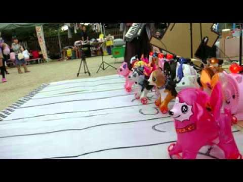 左京区聖水保育園 動物レース 上手く走らなかった件