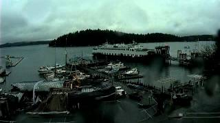 Demolition of Downriggers Restaurant, San Juan Island - Webcam Timelapse