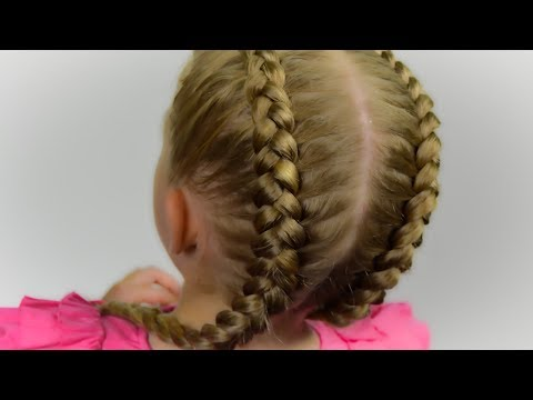 Braid hairstyles - HOW TO: Double Dutch/Boxer Braids  Tutorial  Quick and Easy hairstyle for little princess #49