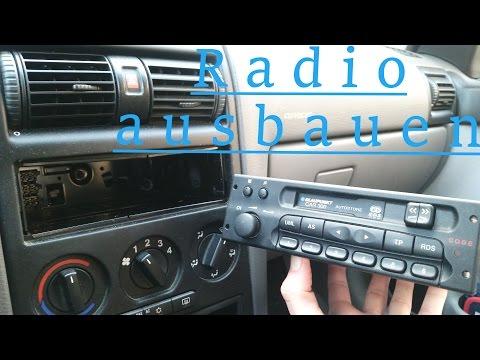 Auto Radio ausbauen ohne Entriegelungswerkzeug  | Opel Astra G |  How to remove a car radio