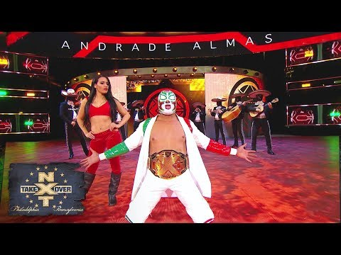 """Masked mariachi band plays Andrade """"Cien"""" Almas to the ring: NXT TakeOver: Philadelphia"""