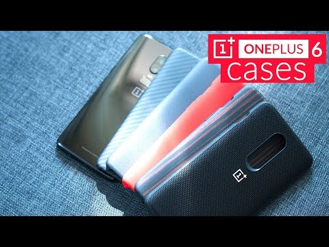 OnePlus 6 Cases Unboxing - Nylon and Ebony Wood Bumper Case, Red Silicone Protective Case