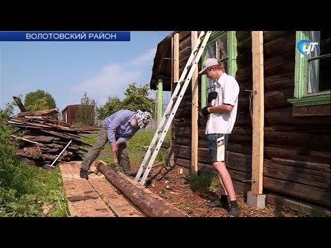 В деревне Остров Волотовского района пытаются дать новую жизнь местной часовне