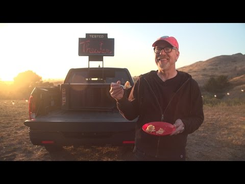 Adam Savage and the Tested Team Convert a Pickup Truck Into a Portable Movie