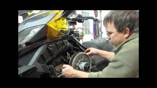 5. Setting Ski-Doo belt tension