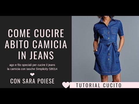 Cucire abito camicia S8014 | cucire jeans | cucire tasche | in sartoria con Sara Poiese