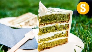 Green Matcha and White Chocolate Cake #CelebrateWithSORTED #Ad by SORTEDfood