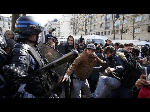 Παρίσι: Συγκρούσεις και συλλήψεις στην πορεία κατά της εργασιακής μεταρρύθμισης