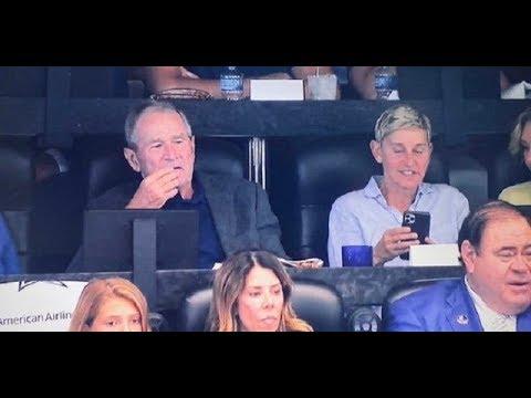 Born Again George Bush Teams Up With LGBTQ Activist Ellen Degeneres To Criticize President Trump