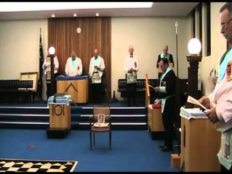 freemasonic - Take a Look inside the Freemasons Lodge Room as William McLeod Lodge No 241 UGLQ conducts a Lodge of Sorrow for recently passed Brethren Worshipful Brother J...