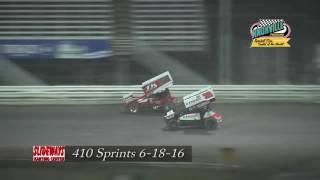 Knoxville Raceway 410 Highlights June 18, 2016