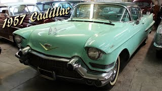 I thought you might like a look at this very original 1957 Cadillac Series 62 hardtop.  It still features it's original drivetrain and interior.  It has been repainted at some point, but with the exception of that, it has been left untouched.  It obviously shows some wear and tear, and the paint isn't perfect, but it's a very solid car.  It starts and runs beautifully.  I hope you like it, thanks for taking a look!Filmed at Country Classic Cars in Staunton, ILhttp://countryclassiccars.com/