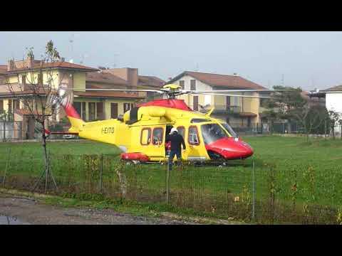 partenza elicottero Agusta-Westland...