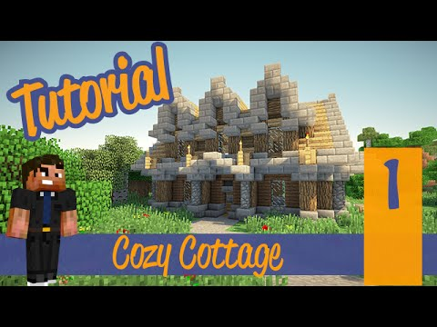 Minecraft Tutorials Part 1 – Advanced Starter House/CozyCottage! Ps4/Xbox/PC/PE/Ps3