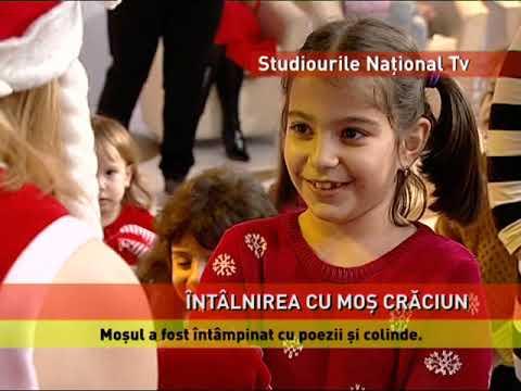 Moș Crăciun, întâmpinat cu poezii şi colinde, la Naţional TV