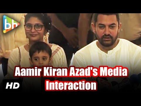 Aamir Khan, Kiran Rao Celebrate Eid With Media