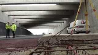 Betonplaten Margaretha Zelle aquaduct geplaatst