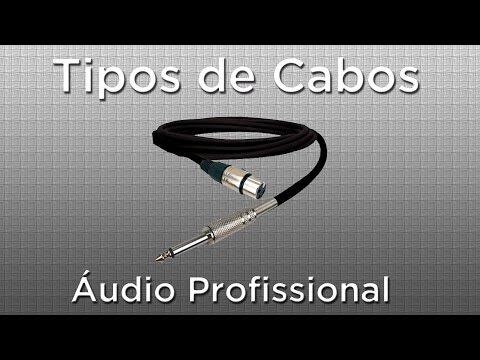 Cabos - Videoaula mostrando os principais tipos de cabos de áudio profissional utilizados para ligar instrumentos musicais, microfones, equalizadores e outros equipa...