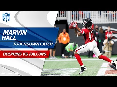 Video: Matt Ryan's Spectacular TD Bomb to Marvin Hall! | Dolphins vs. Falcons | NFL Wk 6 Highlights
