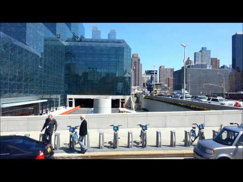 Megabus 2014 Leaving Manhattan New York heading to Washington DC