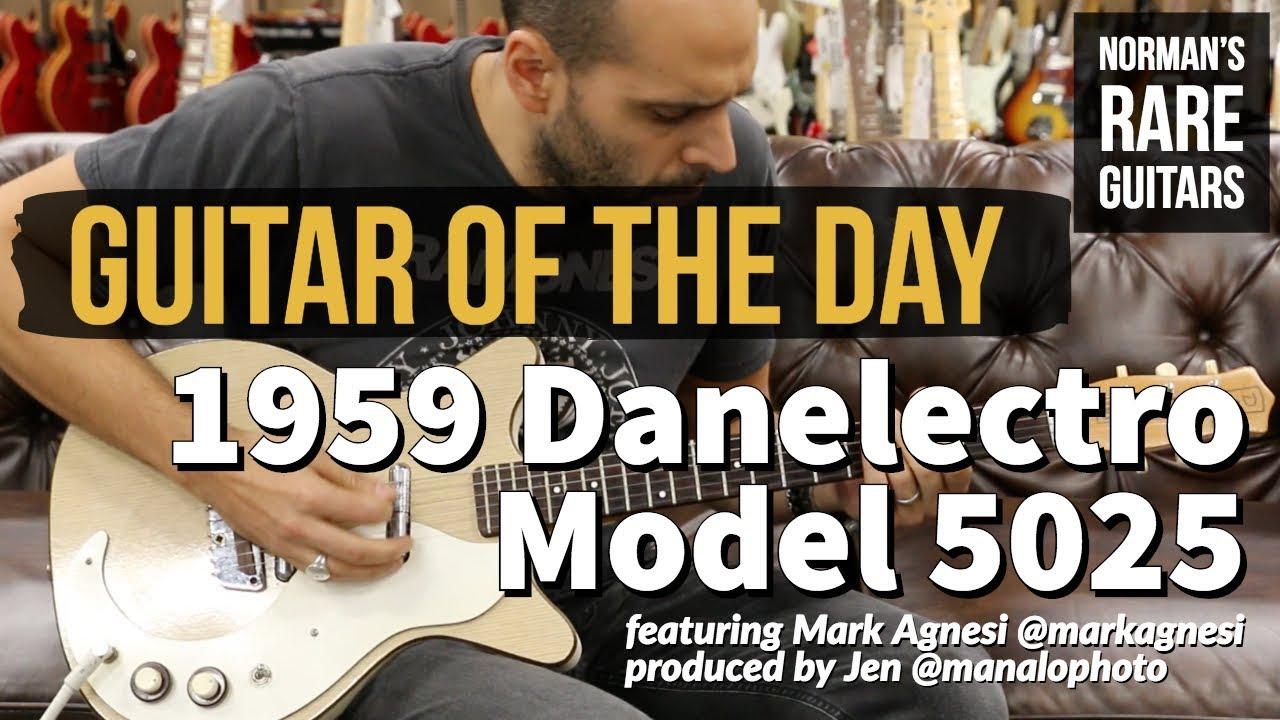 Guitar of the Day: 1959 Danelectro Model 5025   Norman's Rare Guitars