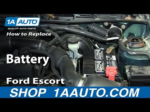 How To Replace Dead Battery 1998-03 Ford Escort ZX2