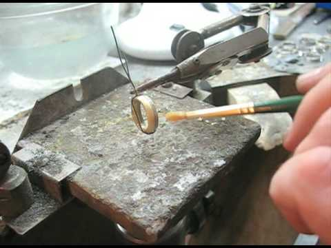Making an 18ct gold two-tone wedding ring sit with the engagement ring - By Mark Lloyd