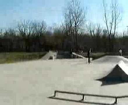 Lenexa Skate park with my Haro X1