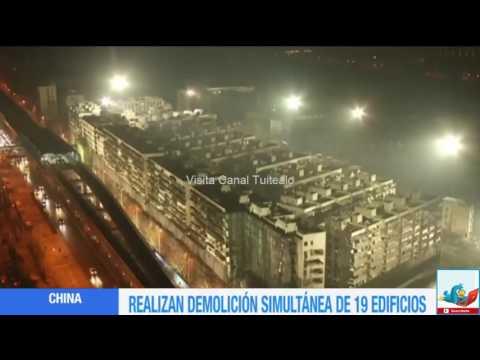 Demuelen 19 edificios en 10 segundos en China Video (видео)