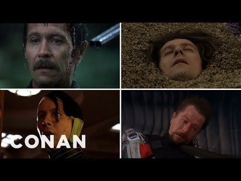 gary - CONAN Highlight: Gary has died 17 times in his movies, and this morbid montage lets you relive the magic. More CONAN @ http://teamcoco.com/video Team Coco is the official YouTube channel...