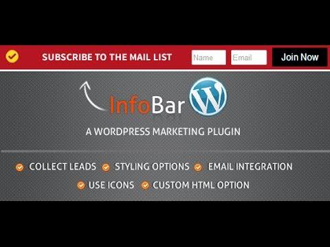 Infobar WordPress Marketing Plugin