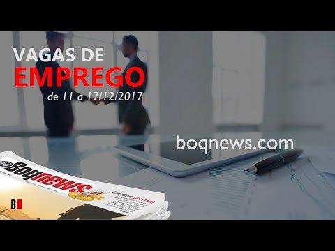 Oportunidades de emprego na Cidade de Santos e região de 11 a 17/12/2017