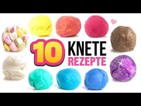 DIY KNETE einfach selber machen 😍 !!! Zahnpasta Kaugummi Marshmallow Knete Anleitung German