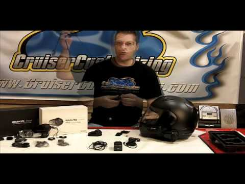 Sena Bluetooth - http://www.cruisercustomizing.com/detail.cfm?Category_ID=5&manufacturer_ID=885&product_ID=60122 Kyle Bradshaw of www.CruiserCustomizing.com show the componen...