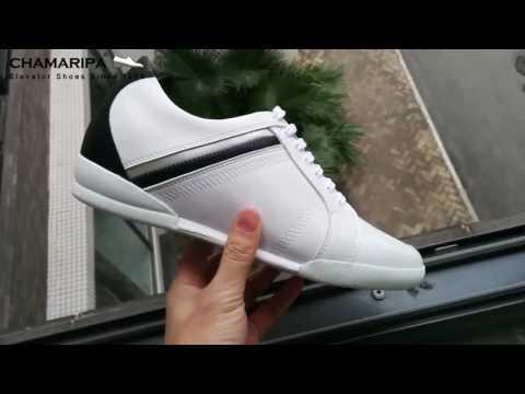 2017 Scarpe da Uomo con Tacco Interno Sneakers Rialzate 6CM Più Alti