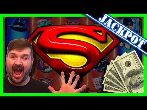 JACKPOT!!! Hand pay! LIVE PLAY on Superman the Movie Slot Machine with Bonus!!!