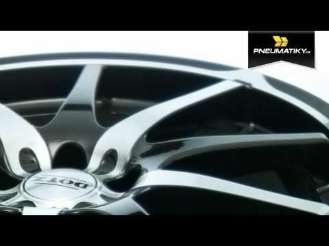Youtube Dotz Shuriken 6,5x15 5x110 ET35 Leštěná čelní plocha / Černý lak