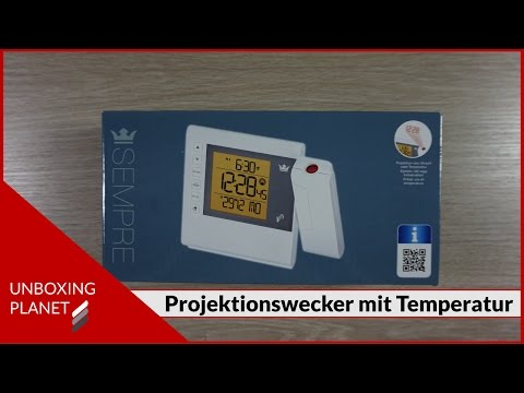 Projektionswecker mit Temperatur - Unboxing Planet