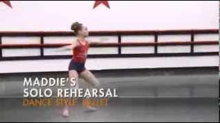 "Dance Moms  - Maddie's Solo Rehearsal-  ""Ballerina"""