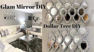 Dollar Tree DIY Mirror Wall Art Best Inexpensive Glam DIY