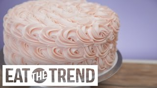 Magnolia Bakery's Tips to Frosting Their Rosette Cake | Eat the Trend by POPSUGAR Food
