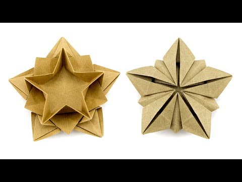 In This Video Tutorial Chrissy Paperkawaii Demonstrates How To Make An Origami Star Bowl Designed By Masoud Hosseini
