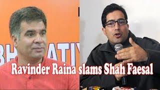 Video Ravinder Raina slams Shah Faesal MP3, 3GP, MP4, WEBM, AVI, FLV Januari 2019