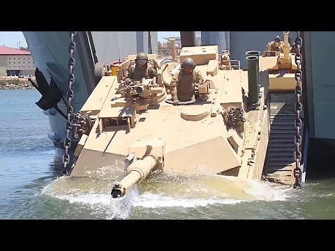 4th - Marines with 4th Tank Battalion, 4th Marine Division, conduct amphibious training aboard Marine Corps Base Camp Pendleton, California. Marines with 4th Tank Battalion, the Navy's Assault...