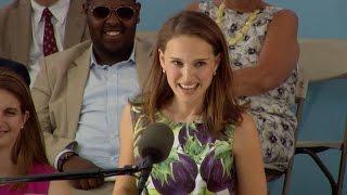 Natalie Portman Harvard Commencement Speech  Harvard Commence...