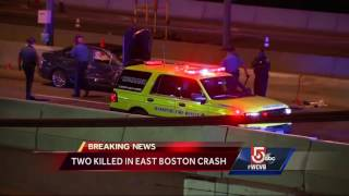 2 dead in car, shuttle crash near Ted Williams Tunnel
